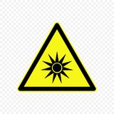 Warning sign Vector illustration. Generic caution Warning sign. Hazard symbols Stock Images