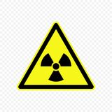 Warning sign Vector illustration. Ionizing radiation Warning sign. Hazard symbols Stock Photos
