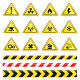 Warning sign. Vector Illustration isolated Stock Images