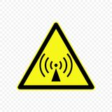 Warning sign Vector illustration. Non-ionizing radiation Warning sign. Hazard symbols Royalty Free Stock Photos