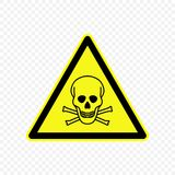 Warning sign Vector illustration. Toxic Warning sign. Hazard symbols Royalty Free Stock Image