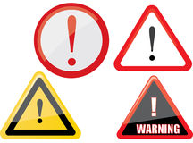 Warning sign vector Royalty Free Stock Photography