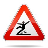 Warning sign for wet floor. Illustration of warning sign for wet floor Royalty Free Stock Images