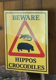 Warning sign about wild animals Stock Photography