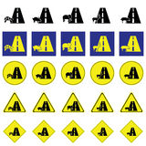 Warning sign of wildlife across the road Stock Photography