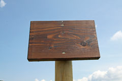Warning sign in wood Royalty Free Stock Image