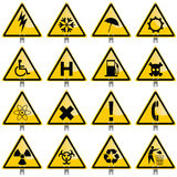 Warning Signs. Collection of various warning signs Royalty Free Stock Photography