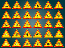 Warning signs. Set Stock Photography
