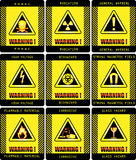 Warning signs Royalty Free Stock Photography