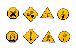 Warning signs Royalty Free Stock Photography
