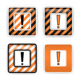 Warning signs. Set of vector warning signs, danger icons Royalty Free Stock Photos