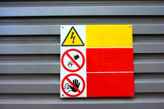 Warning signs Stock Photo