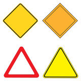 Warning Signs. Set of 4 warning sign  illustration Stock Photos