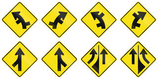 Warning Signs In Australia. Collection of road warning signs in Australia Royalty Free Stock Photos