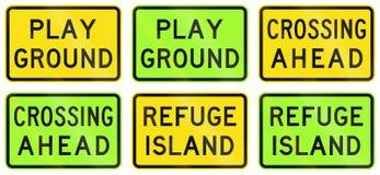 Warning Signs In Australia Stock Image