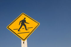 Warning Signs. With blue sky background Royalty Free Stock Image