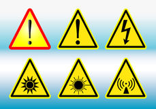 Warning signs. Collection in vector illustration design Stock Photo