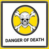 Warning signs danger of death illustration drawing  illustration drawing and drawing illustration white background Royalty Free Stock Photo