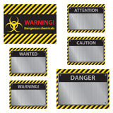 Warning signs easy to edit vector image Royalty Free Stock Photography