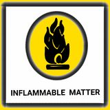 Warning signs inflammable matter illustration drawing  illustration drawing and drawing illustration white background Royalty Free Stock Photography