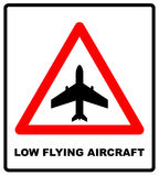 Warning signs of low-flying aircraft Royalty Free Stock Photo