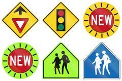 Warning Signs in Ontario - Canada Royalty Free Stock Photos