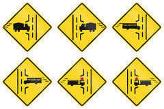 Warning Signs in Ontario - Canada Royalty Free Stock Photo