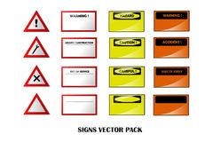 Warning Signs pack Royalty Free Stock Image