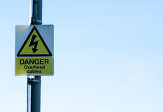 Warning signs. Public warning signs for health and safety and information Stock Images