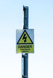 Warning signs. Public warning signs for health and safety and information Royalty Free Stock Photo