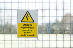 Warning signs. Public warning signs for health and safety and information Stock Photography