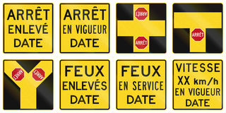 Warning Signs in Quebec - Canada Stock Photos