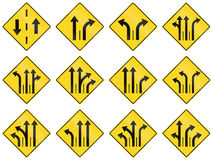 Warning Signs in Quebec - Canada Stock Photo