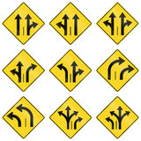 Warning Signs in Quebec - Canada Royalty Free Stock Photo