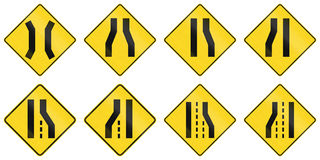 Warning Signs in Quebec - Canada. Collection of warning road signs in Quebec - Canada Royalty Free Stock Image