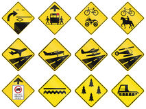 Warning Signs in Quebec - Canada Royalty Free Stock Images