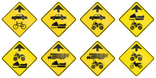 Warning Signs in Quebec - Canada Stock Image