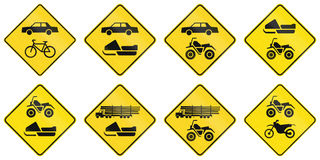 Warning Signs in Quebec - Canada Stock Images