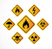 Warning signs. Royalty Free Stock Photography