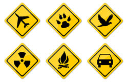 Warning Signs Set. Created For Mobile, Web And Applications Stock Photos