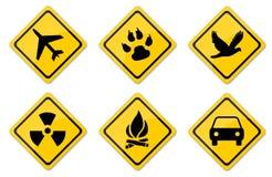 Warning Signs Set Stock Photos