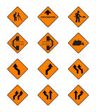 Warning  signs, traffic signs  set. On white background Royalty Free Stock Photography