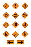 Warning  signs, traffic signs  set. On white background Royalty Free Stock Image