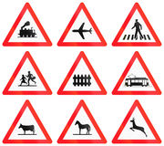 Warning signs used in Switzerland Royalty Free Stock Photos