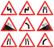 Warning signs used in Switzerland Royalty Free Stock Image