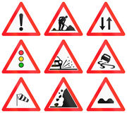 Warning signs used in Switzerland Stock Photo