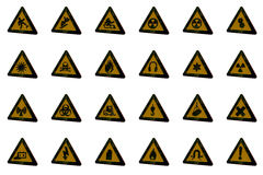 Warning Signs. Various 3D bitmap warning signs Stock Photo