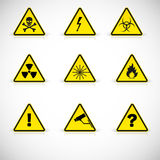 Warning signs vector. Royalty Free Stock Image