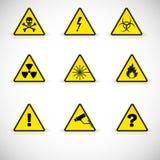 Warning signs vector. vector illustration