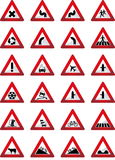 Warning signs Stock Photos